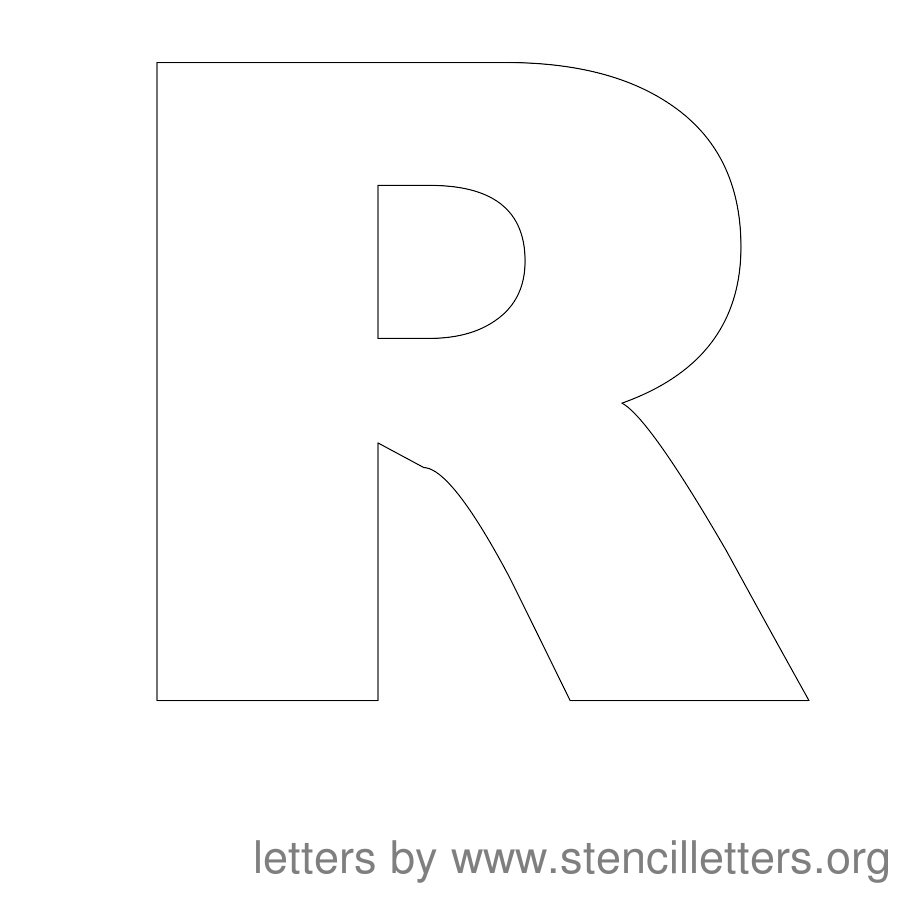 8 Best Images Of Printable Block Letter R