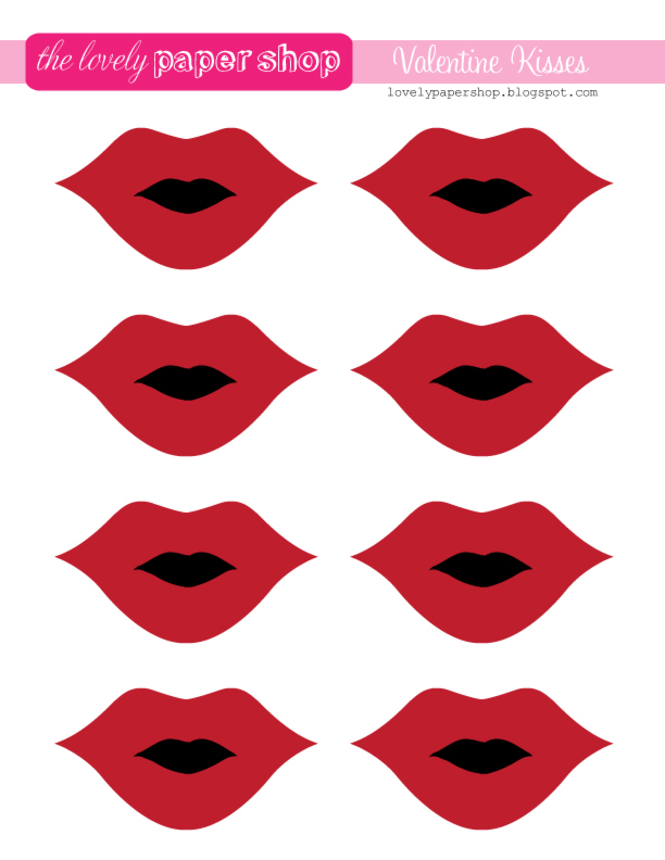 7 Images of Free Printable Lips