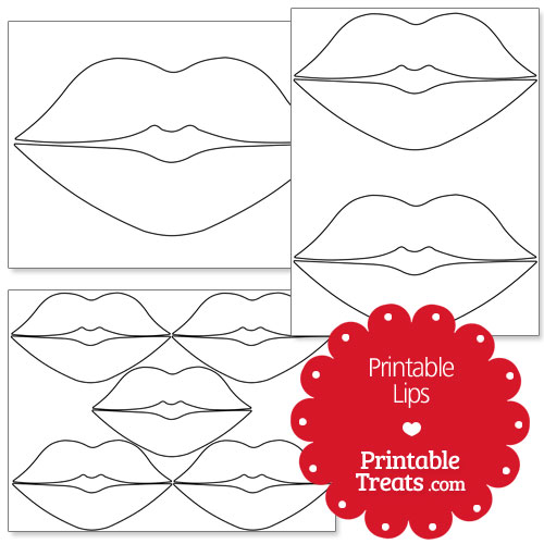 5 best images of lips template printable lip and mustache template printable printable lips. Black Bedroom Furniture Sets. Home Design Ideas