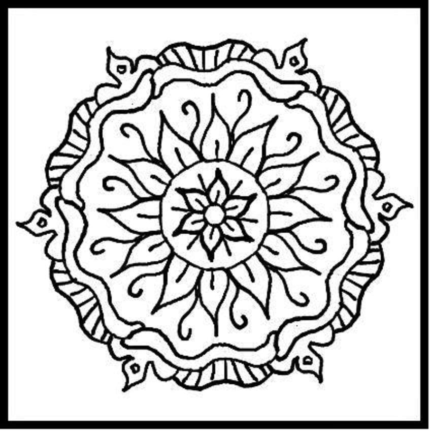 8 Images of Printable Mandalas Coloring Pages Designs