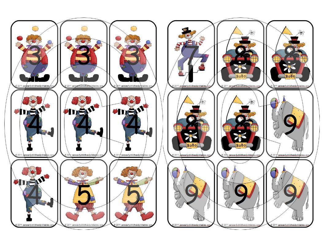 5 Images of Printable Circus Memory Game