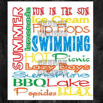 6 Images of Free 8 X 10 Summer Subway Art Printable