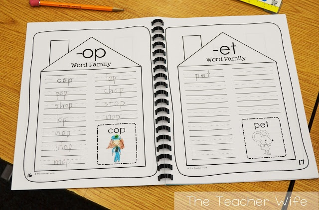 6 Images of Free Printable Word Family Books