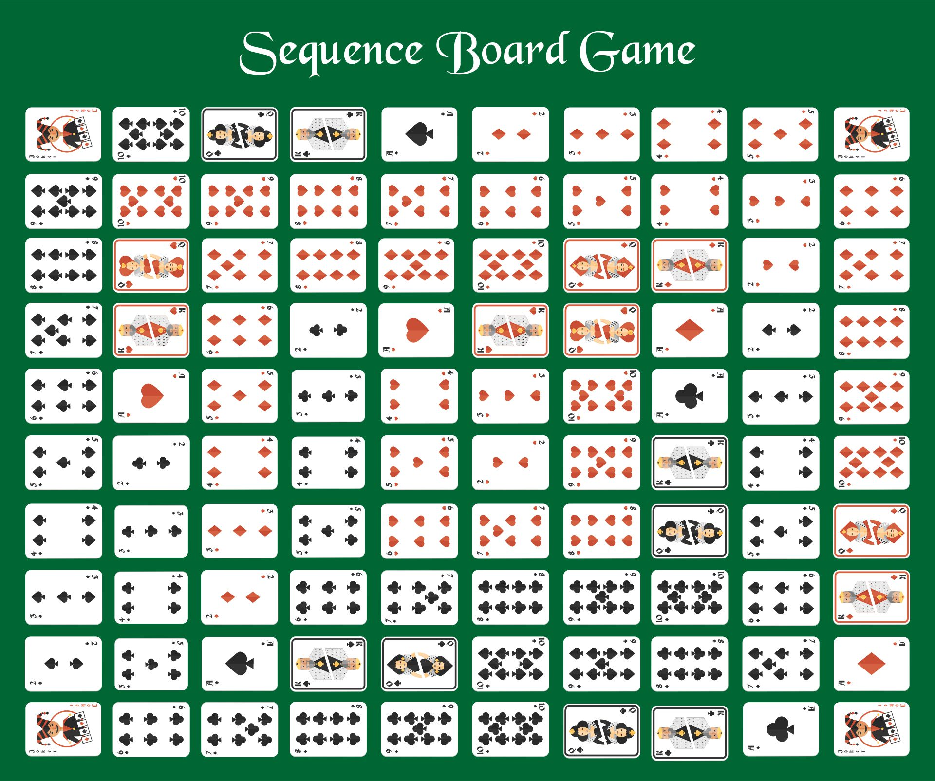Sequence Board Game Card
