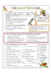 Printables Complex Sentences Worksheet compound and complex sentences worksheet fireyourmentor free worksheets 5 best images of printable simple and
