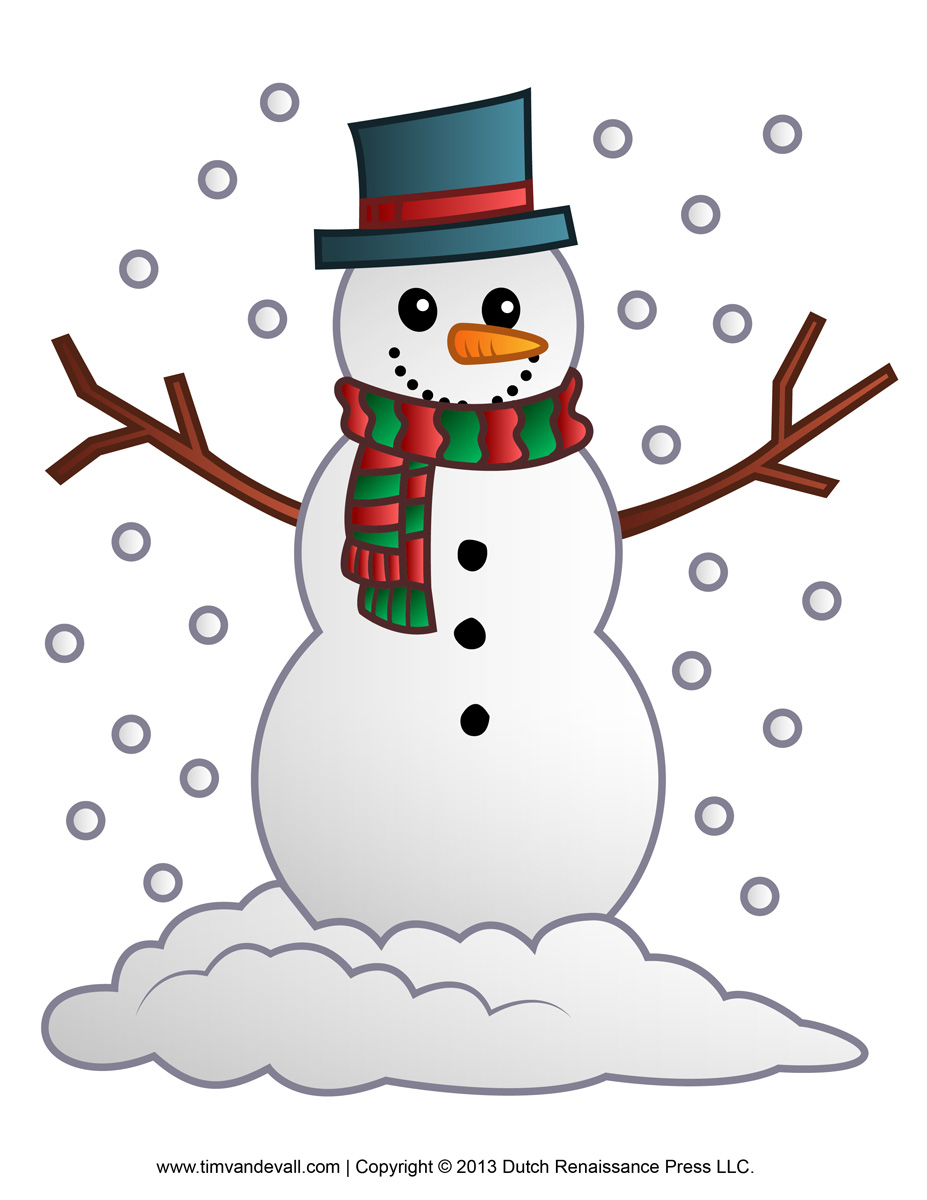 6 Images of Free Printable Snowman Clip Art