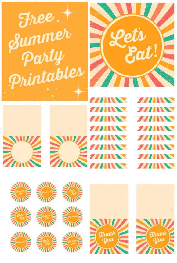 Summer Party Free Printables