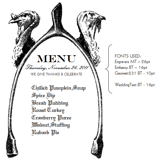 7 Images of Printable Thanksgiving Menu Template