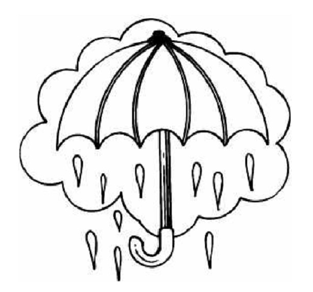 5 Images of Rain Coloring Pages Printable
