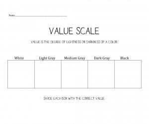 7 Best Images of Printable Art Worksheet Value Scale - Shading ...