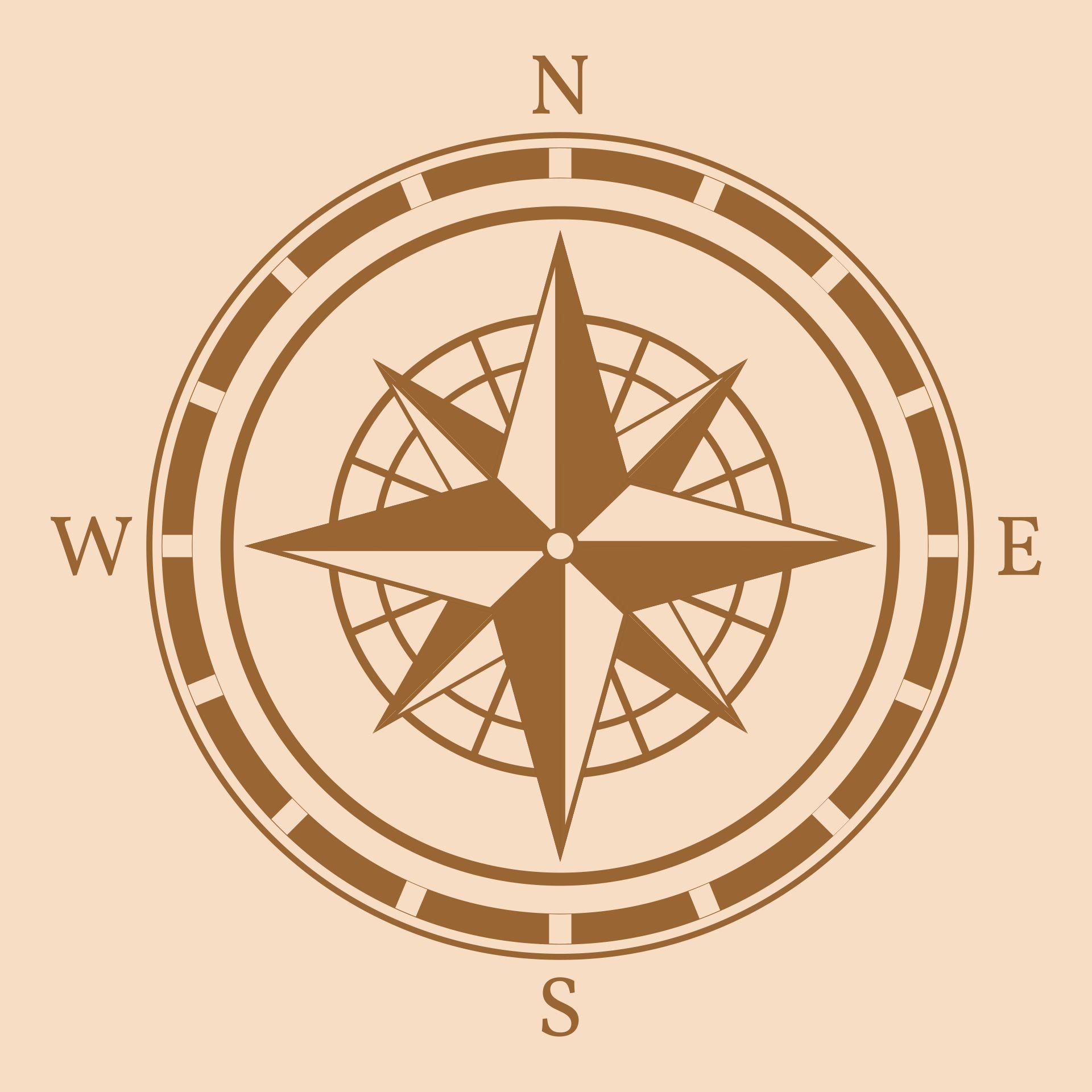 Vintage Compass Rose Clip Art