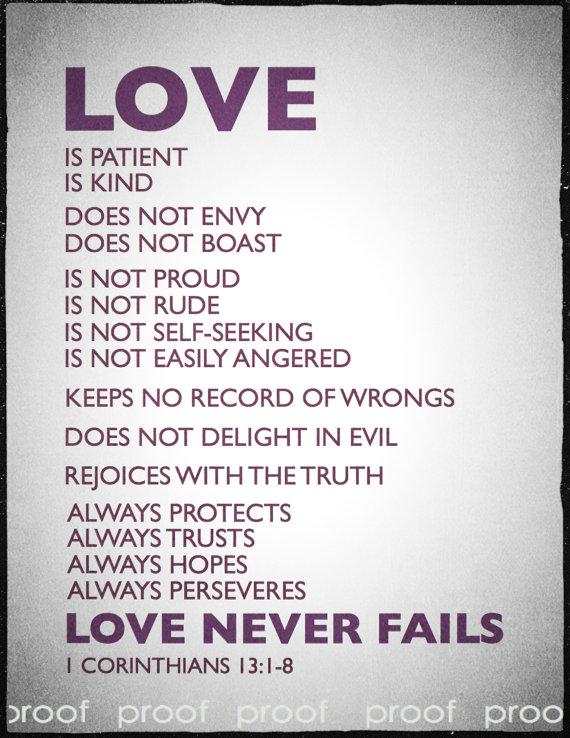 1 Corinthians 13 Love Poems Printable