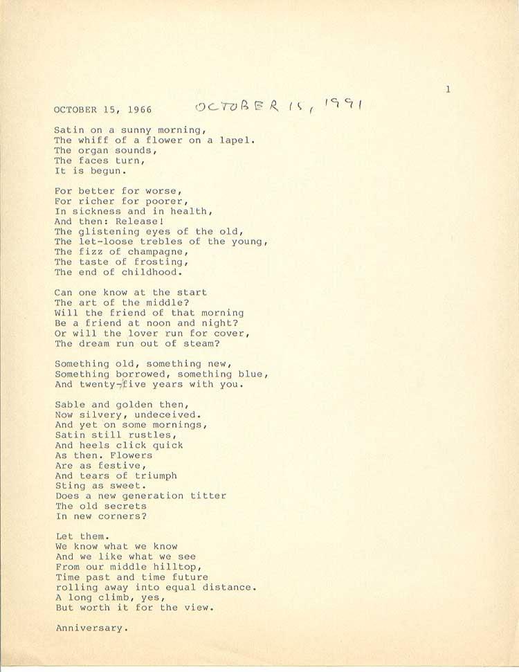 15 Wedding Anniversary Poems