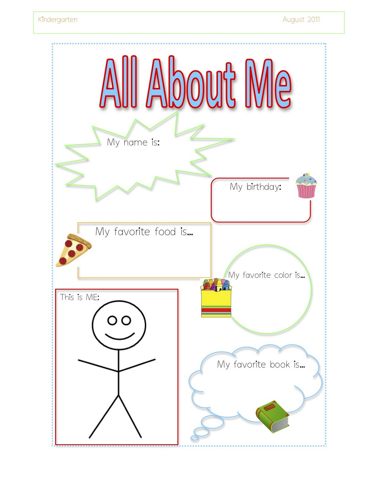 5 Best Images of About.me Printable Preschool - All About ...