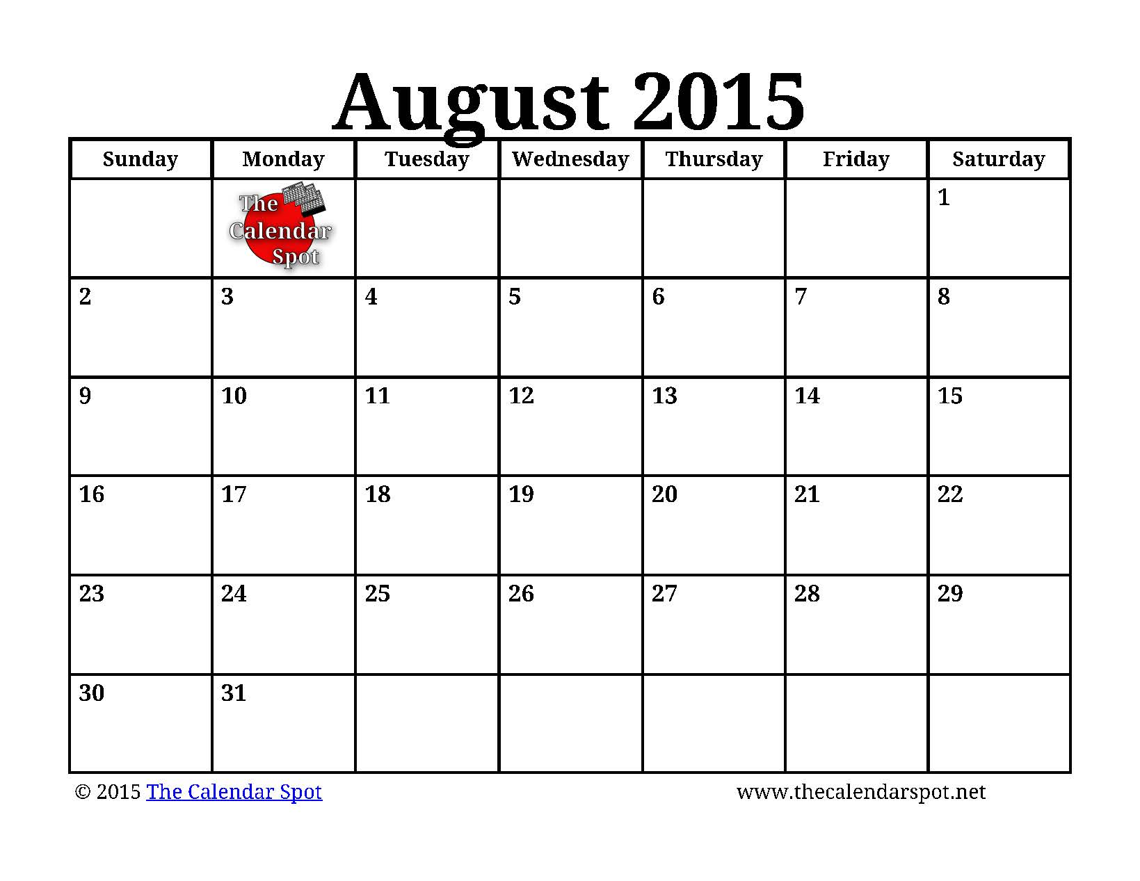Monthly Calendar August Printable : Related keywords suggestions for monthly calendar august