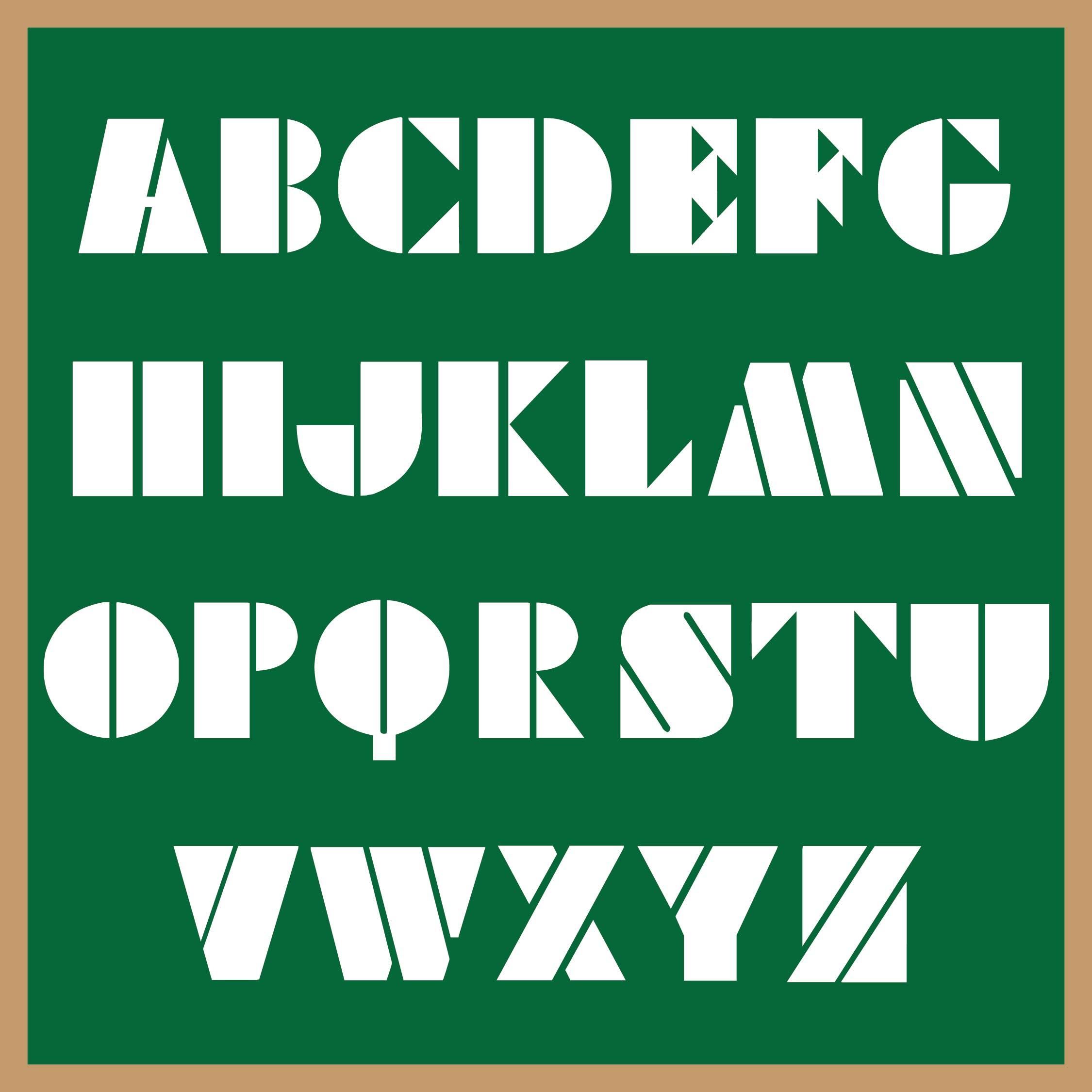 Block Letter Stencils Printable