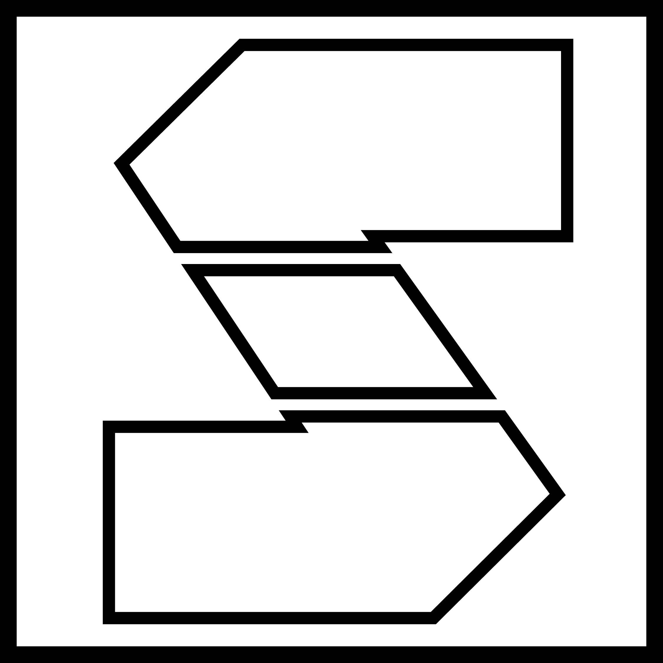 Block Stencil Letters