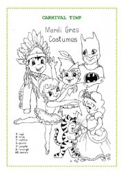 4 Images of Carnival Worksheet Printables
