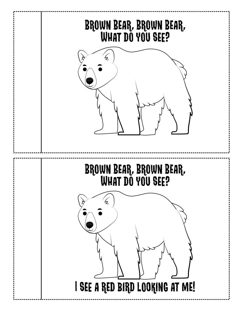 10 Best Brown Bear Brown Bear Printables Printablee Com