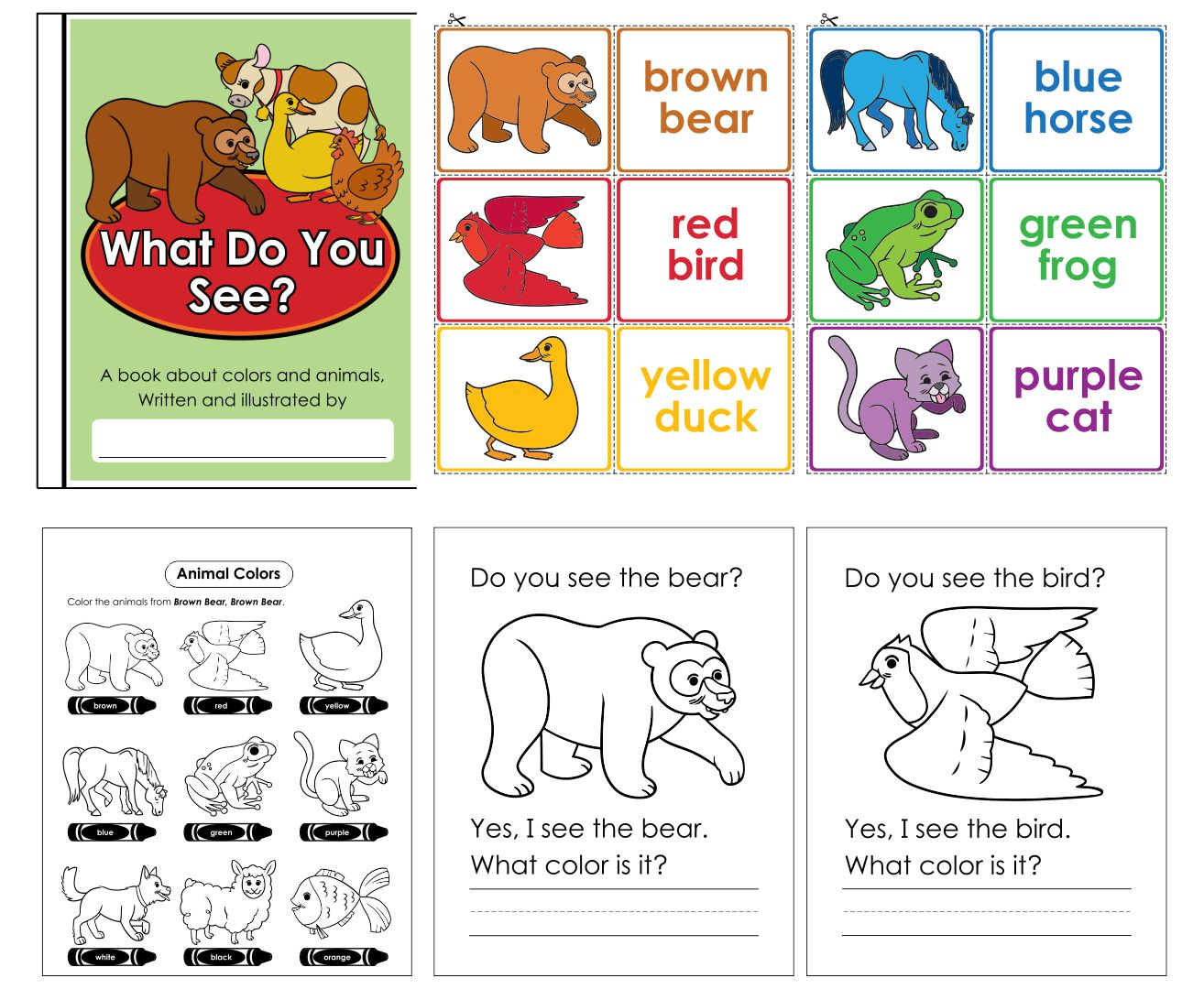 Brown Bear What Do You See Printable Book