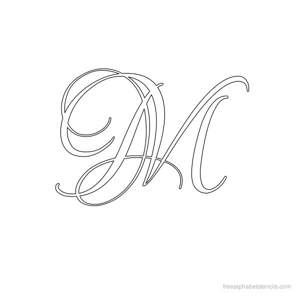 8 Images of Calligraphy Alphabet Stencils Printable