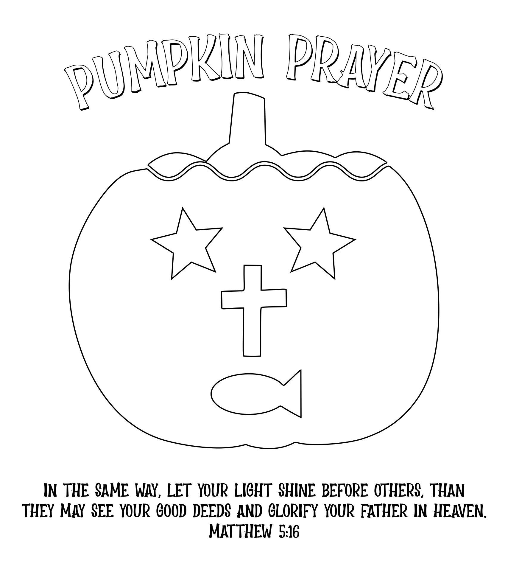 Christian Pumpkin Printables