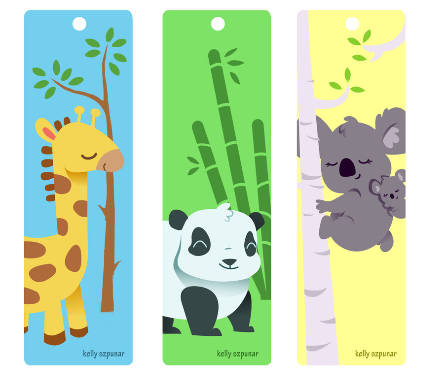 Cute Animal Bookmarks to Print