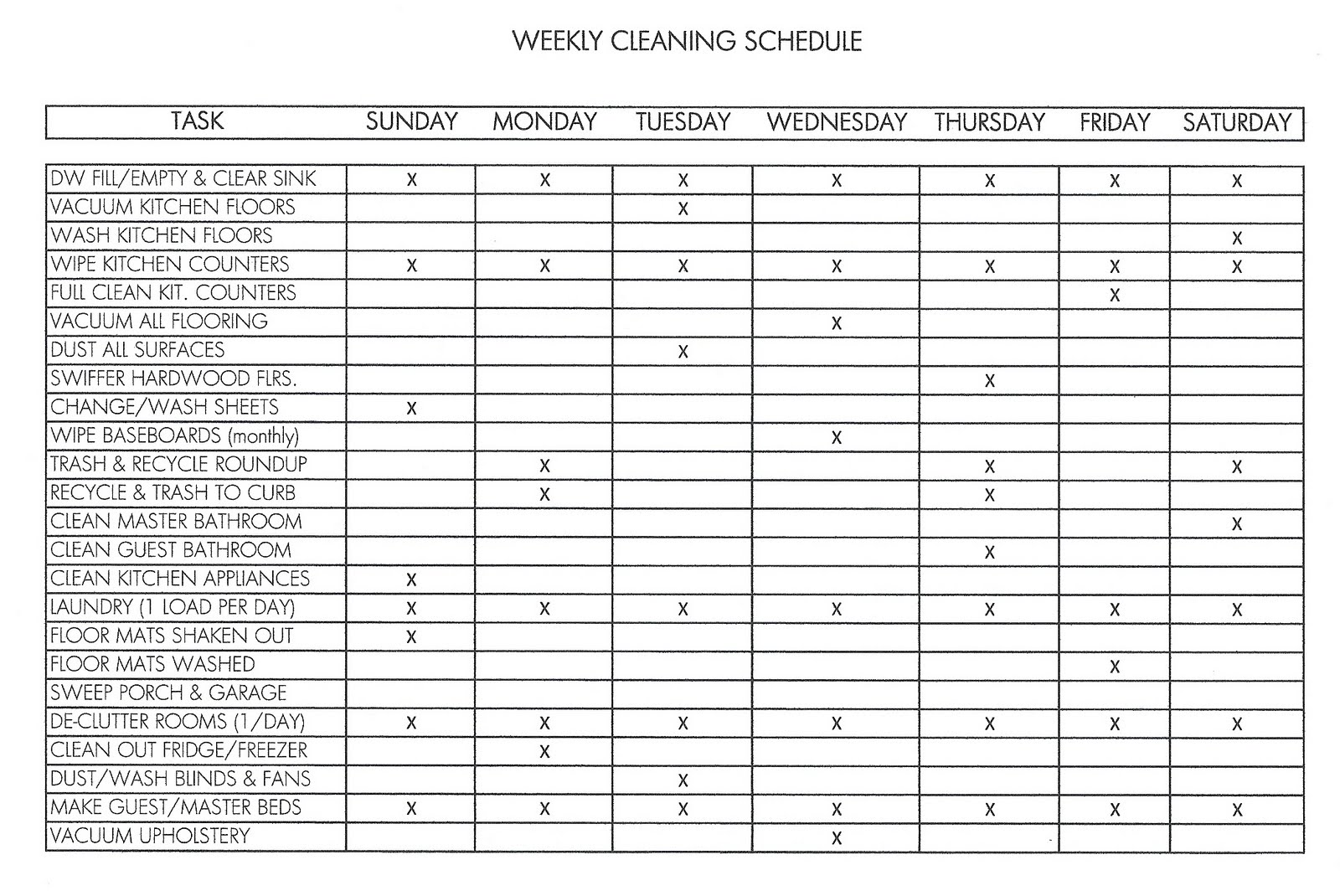 See Printable Weekly Work Schedule Template, Free Blank Daily Schedule ...