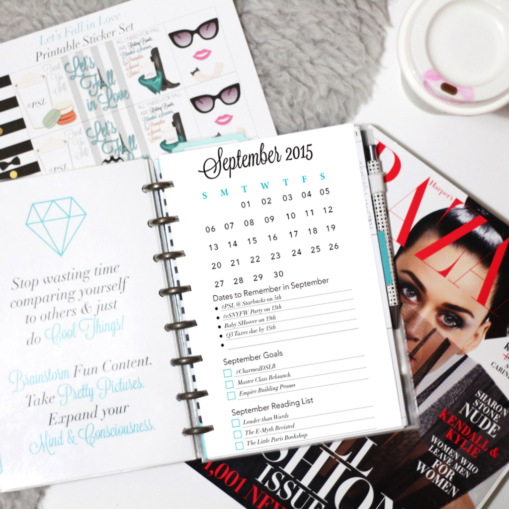 6 Images of September 2015 Filofax Printables