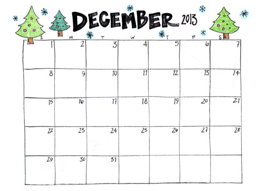 7 Best Images Of Cute Free Printable December Calendar