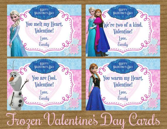 8 Best Images of Valentines Printable Frozen Princess Frozen – Disney Valentine Cards Printable