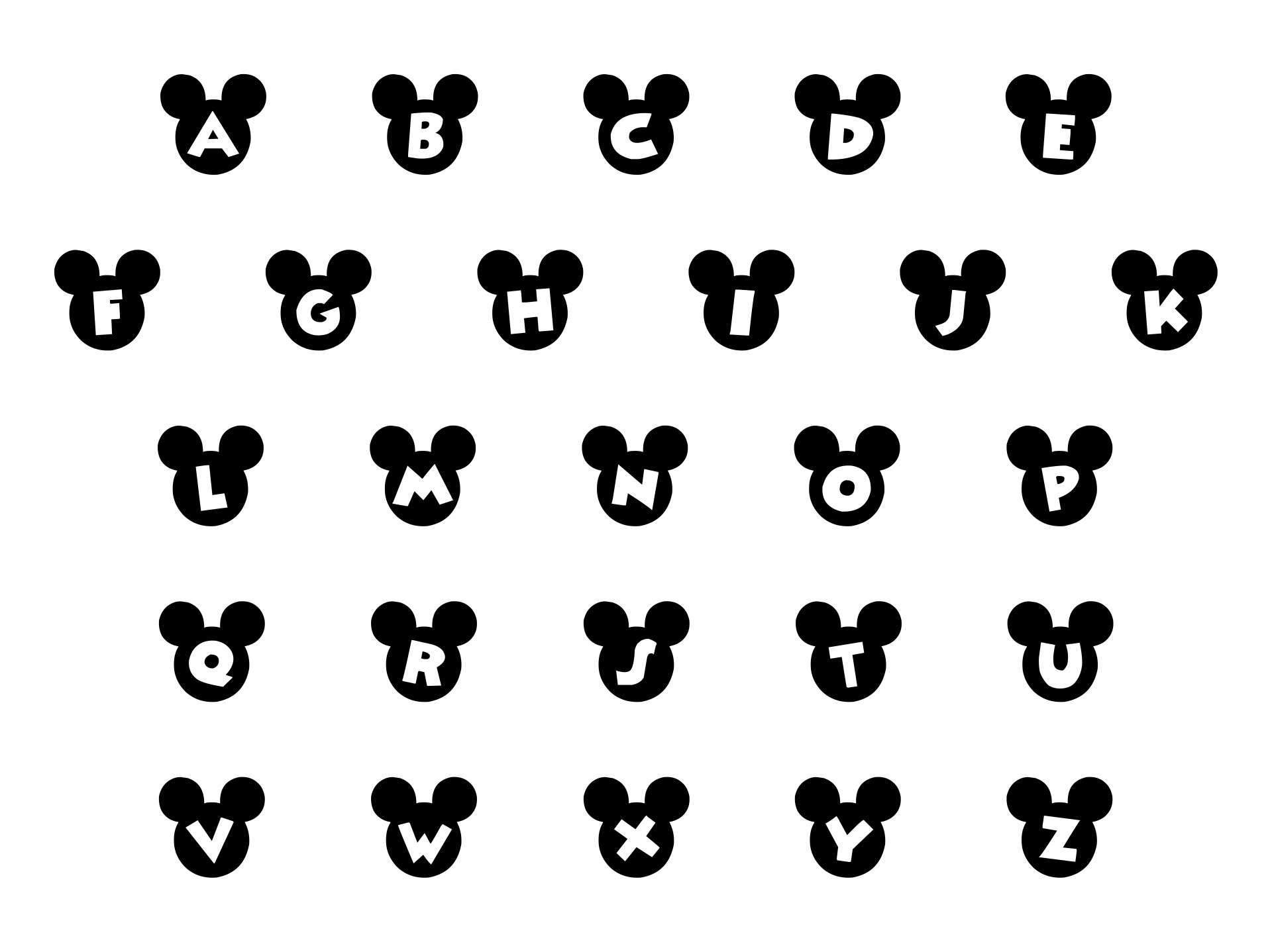Disney Mickey Mouse Letters Alphabet