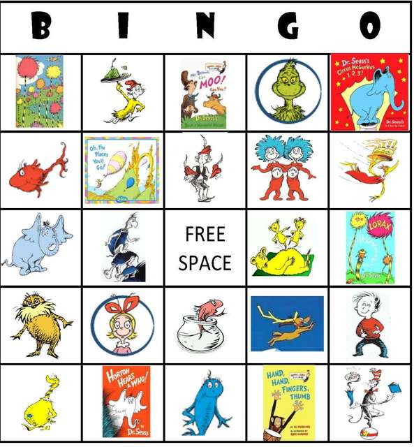 7 Images of Dr. Seuss Bingo Printable