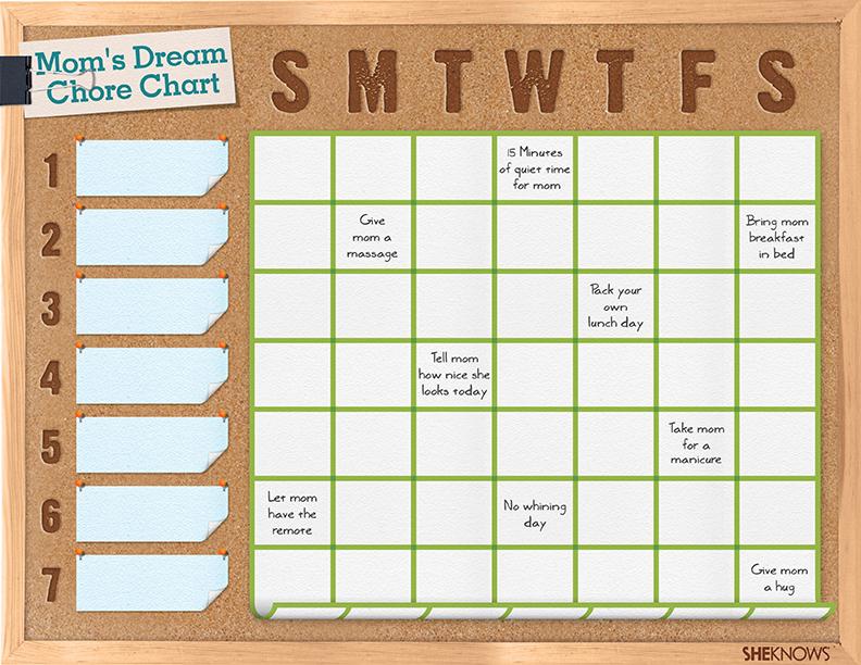 Dream Moms Chore Chart