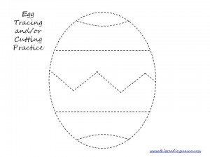 4 Images of Preschool Easter Cutting Practice Printable