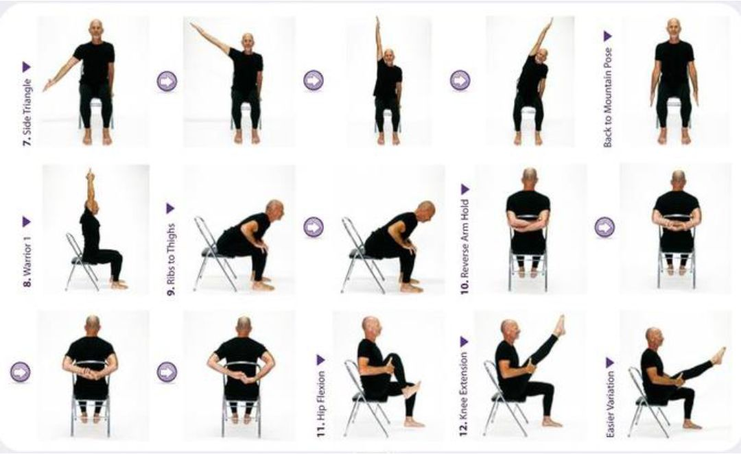 Easy Chair Yoga for Seniors