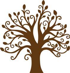 Family Tree Silhouette Stencil