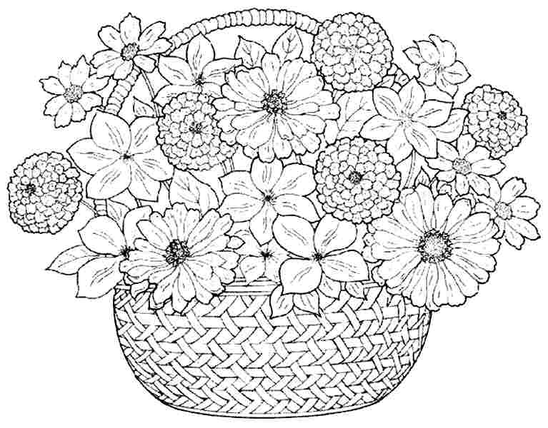 8 Images of Printable Coloring Flower Bouquet