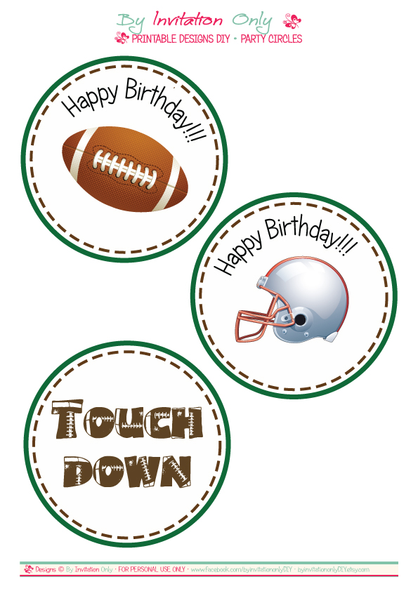 6 Images of Free Printable Football Birthday Banner