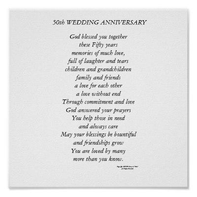 50th Wedding Anniversary Poems