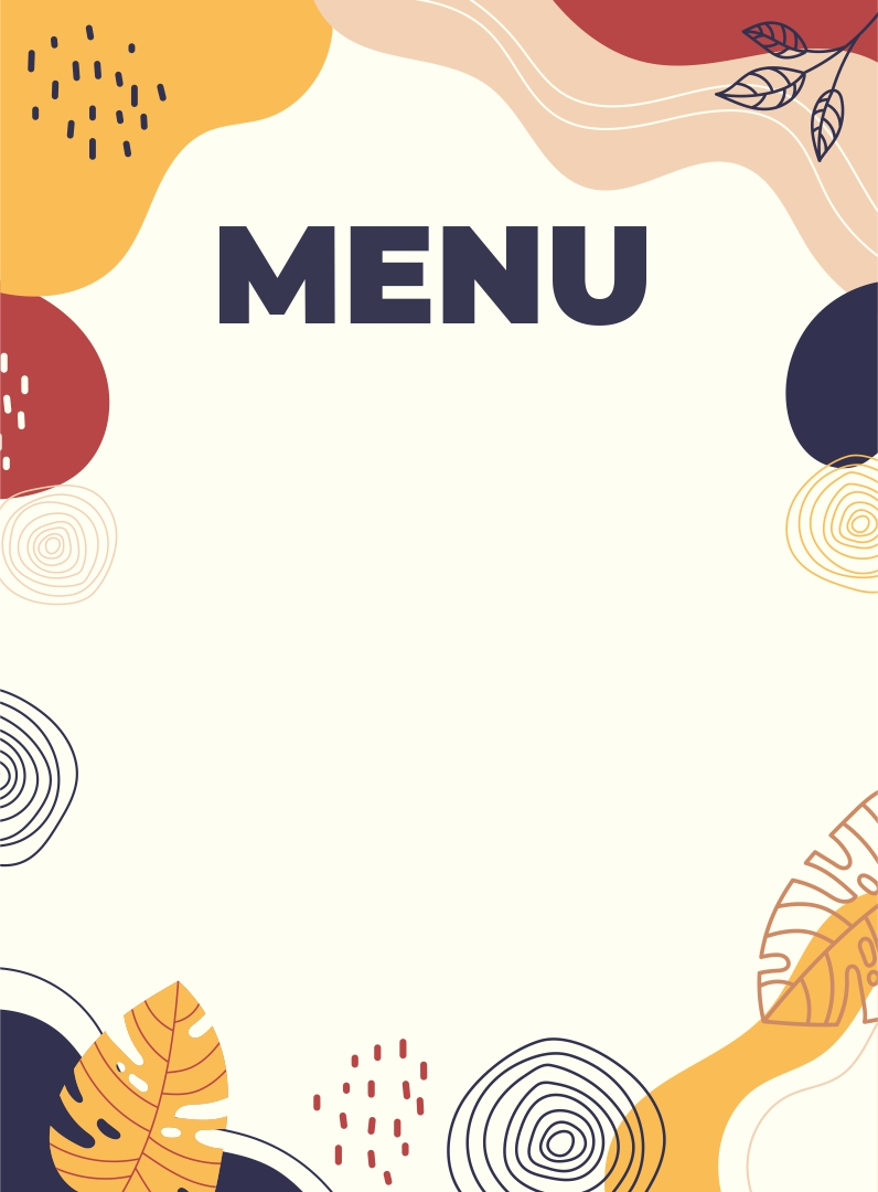 Blank Restaurant Menu Templates