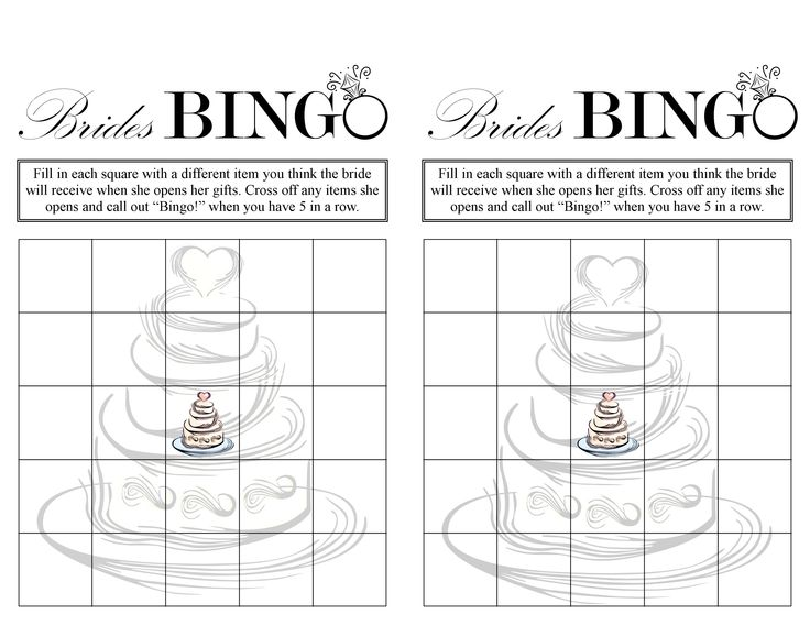 5 Images of Bridal Shower Games Bingo Free Printables