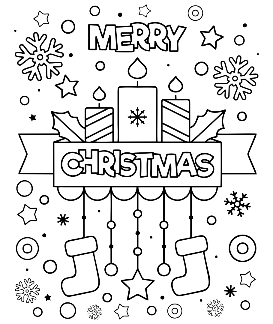 5 Images of Christmas Cookie Printable Christmas Coloring Pages