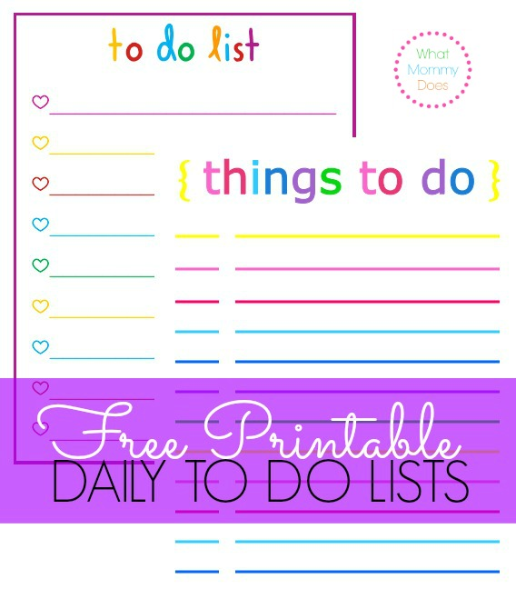 6 Images of Free Printable Daily Checklists