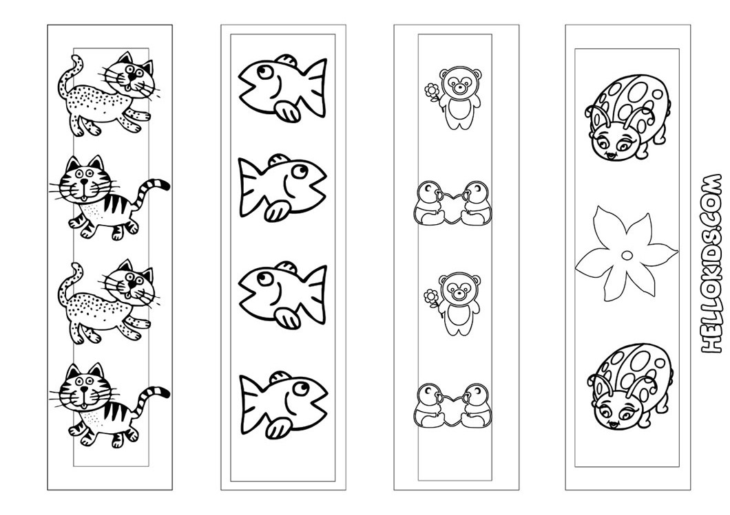 Free Printable Animal Bookmarks to Color