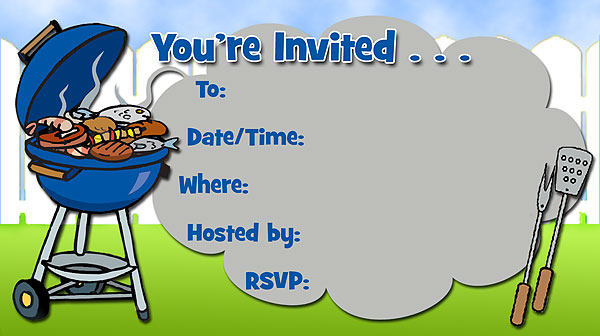 6 Images of Free Printable BBQ Invitations