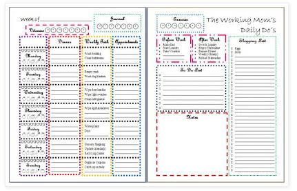 Free Printable Bill Organizer Template
