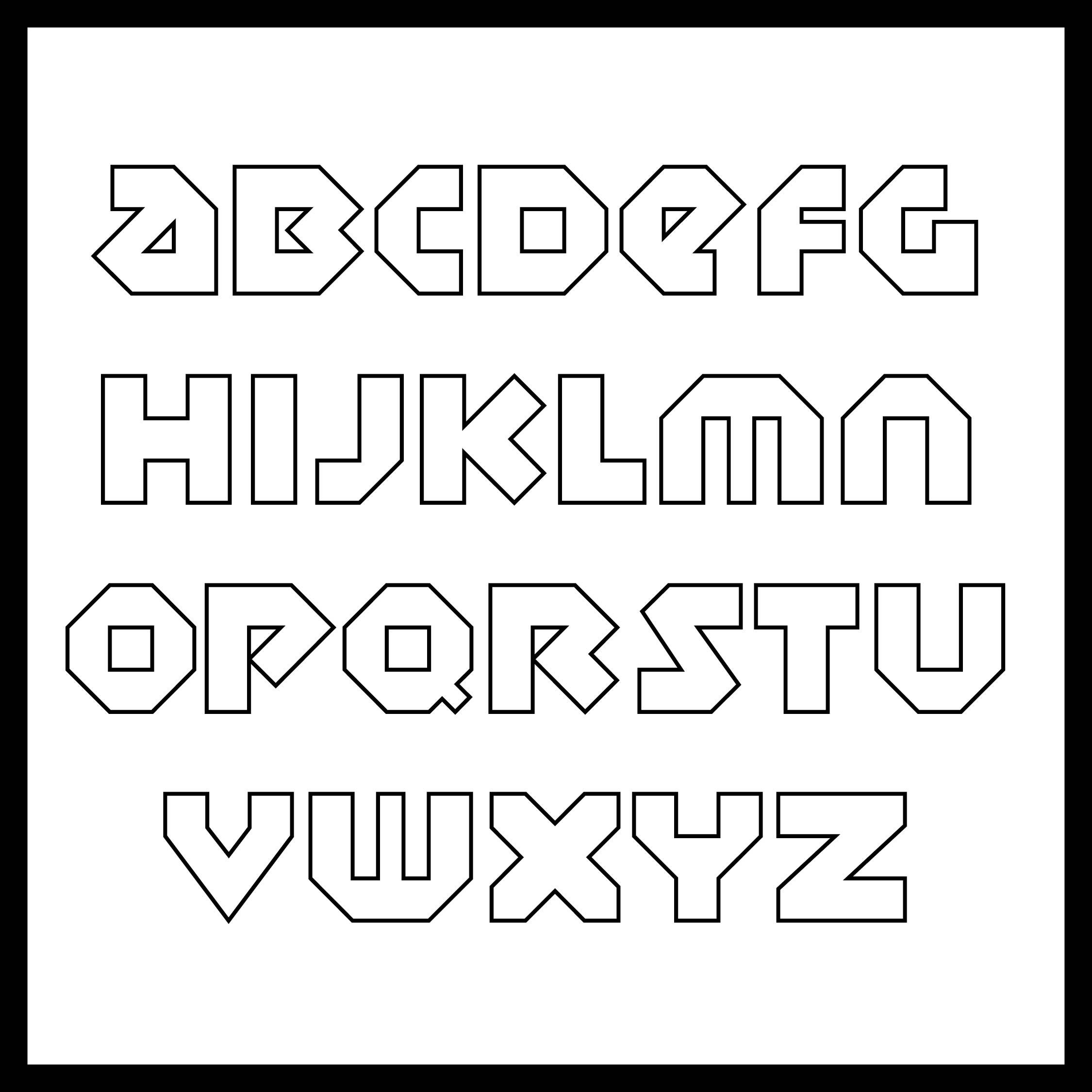 Printable Block Letter Stencils