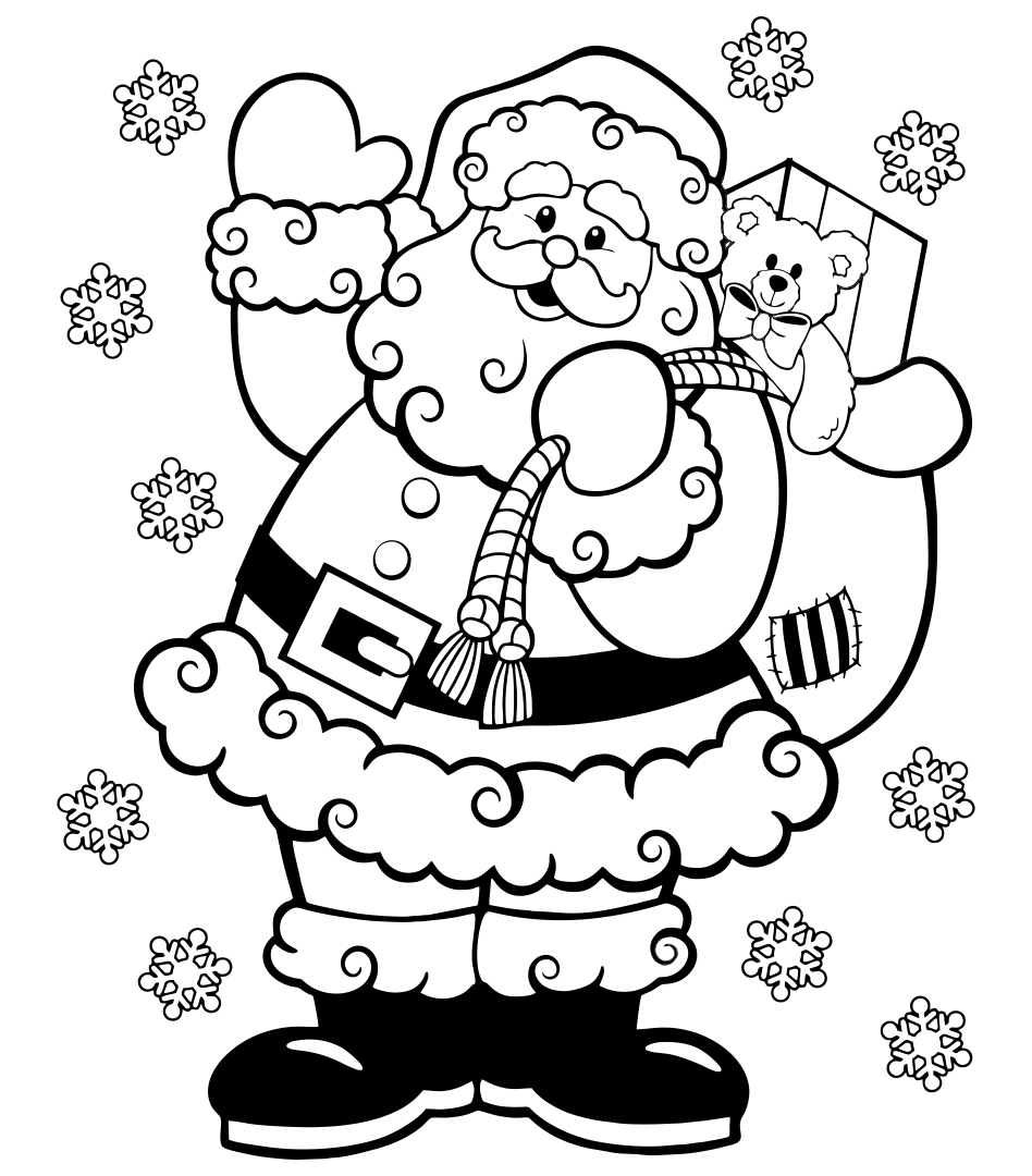 8 Images of Printable Christmas Coloring Books