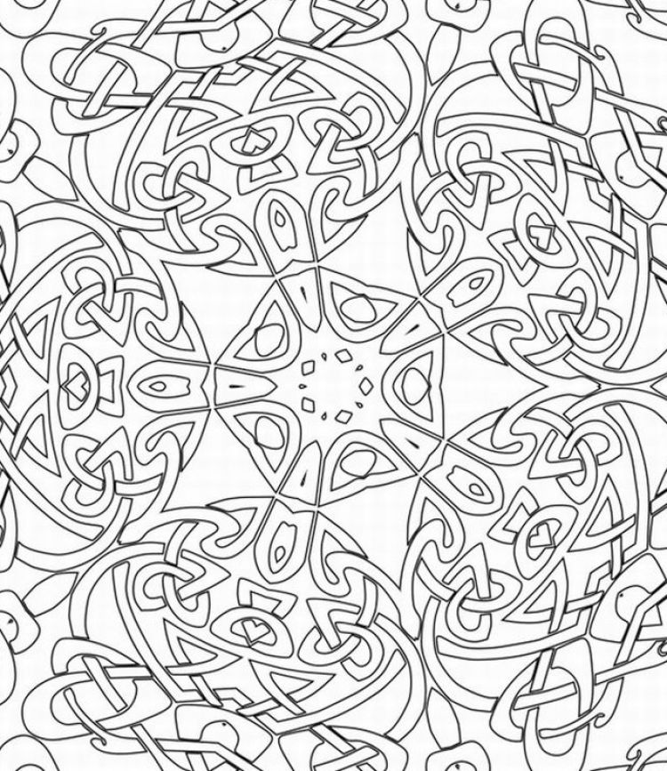 4 Images of Printable Coloring Pages For Adults